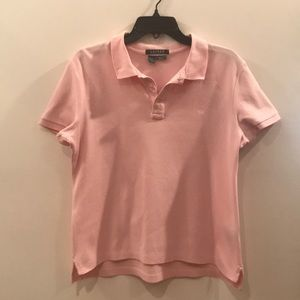 Lauren Ralph Lauren Pink Slim Fit Polo, L